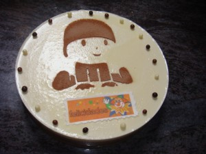 Pastel tres chocolates Pocoyo